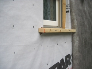 Deep Energy Retrofit - Housewrap and Window Sill